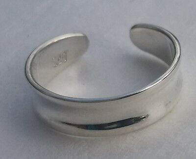 Solid Sterling Silver 925 Toe Cuff Ring Adjustable