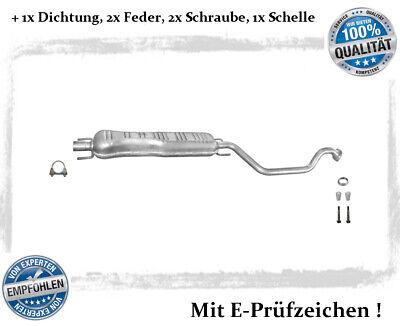 Mittelschalldämpfer Opel Zafira A 1.6 1.8 2.2 Bj.99-03 Auspuff Dichtung Schelle