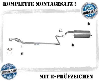 Auspuffanlage Opel Zafira B 1.6 1.8 2.2 Auspuff Endtopf Mitteltopf 2x Schelle