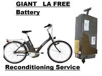GIANT LAFREE TWIST BATTERY ( RECONDITIONING) Service TO Li-Ion