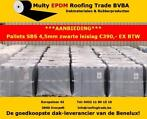 Palletaanbieding SBS brandrollen 4,5mm 7,5x1 zw. leislag