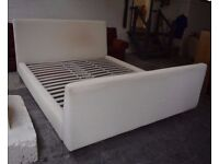 Cream King size bed