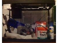 'Love Fish' Panorama 40l fish tank,( with all accessories) as new condition for sale
