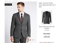 M&S grey textured suit