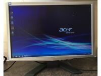 22inch Acer x223W Widescreen EPEAT Flat Panel LCD TFT Screen Monitor VGA PC