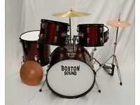 Red / Black Drum Kit complete with with stands / cymbals etc