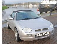MG F Freestyle genuine low mileage; will part exchange for larger car, now reduced price