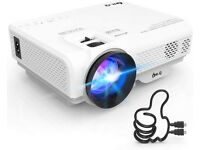 Projector, Mini Projector 6000 Lumens, Video Projector Supports 1080P HD