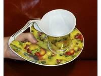 Leonardo Collection Floral Cup&Saucer-Perfect Christmas Gift