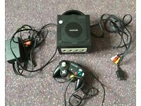 Nintendo GameCube console with cables