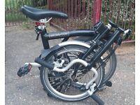 Brompton M3L Black 3 gear folding bike 2015