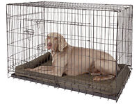 Pet Cage - foldable with separate removeable plastic tray - for dogs & cats