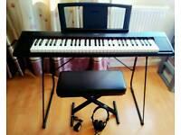 Nearly new Yamaha NP11 Digital Piano Bundle