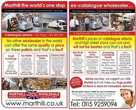 JOB LOTS EARN EXTRA CASH. PALLETS, TOYS, HOUSE WARES, ELECTRICAL, FURNITURE, GARDEN, CLOTHING