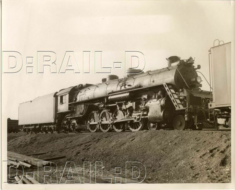 9CC041 RP 1940s/50s BALTIMORE & OHIO RAILROAD 4-8-2  LOCO #714