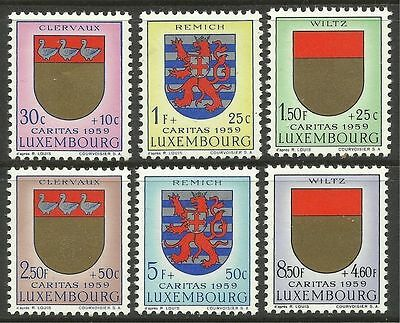LUXEMBOURG. 1959. National Welfare Fund Set. SG: 662/67. Mint Never Hinged.