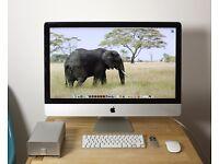 Apple iMac 27-inch | 3.4GHz Intel Core i7 | 1TB SSD Hard Disk | 16GB Ram | + 2TB G-Tech External HDD