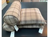 Bronte by Moon Luxury Cushion & Bolster Set - Pure Wool (Brand New, Rrp £200)