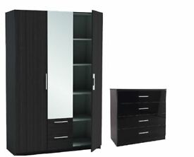 3 door wardrobe with 2 draws/chester draws