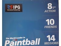 10 Paintball tickets + 1000 paintballs valued at £370 can be used ANYTIME before November!