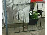 Iron garden gate with post