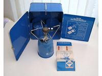 Camping Gaz stove with wind shield/carry case