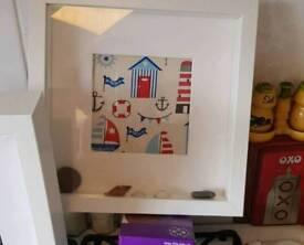Box frame prints.