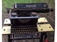 Imperial Typewriter ( Badly rusted, spares or repairs )