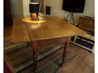 antique Victorian pemborke table circa 1860 (free delivery in midlothian)