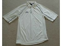 "SLAZENGER CRICKET TOP - MENS SIZE SMALL. CHEST 36"". USED BUT IN AS NEW CONDITION"