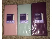 King Size Bed Fitted Sheets in 3 Colours