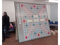 Giant Scrabble Board - Ideal for cool pubs, social clubs, outrageous wall cover!