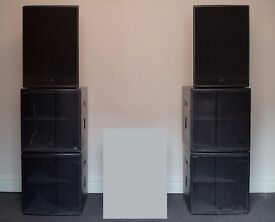 Complete 3-WAY PA System, 3400W RMS, 7000W Peak Includes: Amp Rack, Crossover & Cables