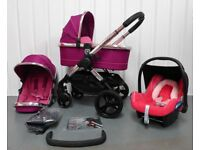 iCandy Peach 3 in FUCHSIA FULL TRAVEL SYSTEM