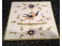 French MATET Decorative, Vintage Tile (used)