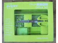 Avery ColorStak Office Tray Accessory Desk Set - Green - CS501 (New, Unopened)