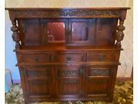 Solid oak Old Charm sideboard / Buffett unit