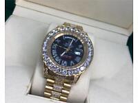 Rolex big face diamond iced out gold not Audemars piguet Cartier watch