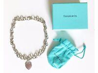 Tiffany & Co. Sterling Silver Heart Choker Necklace (2003)