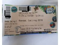 Kendal Calling Weekend Camping Tickets x2