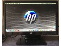 20 inch HP 2011x LED Widescreen HDMI 19 LCD Flat screen Monitor VGA DVI HDMI adapter 4 PC Apple Mac