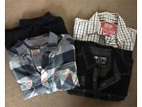 Bundle of 4 casual shirts