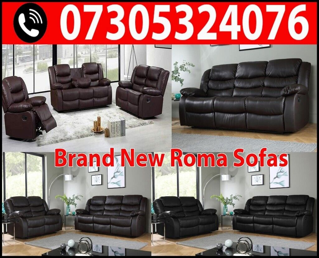 Cool Uk Express Delivery Roma 3 2 Seater Leather Recliner Sofa With Drink Holder 3 Years Warranty In Croydon London Gumtree Machost Co Dining Chair Design Ideas Machostcouk