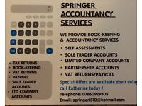 Tax Returns, Accounting, Vat Returns, Book-Keeping, Payroll