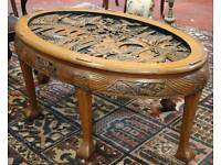 Vintage highly carved Chinese coffee table