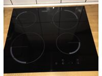 ZANUSSI Black Electric/Ceramic Hob - Only 2 months Old. All paperwork/guarantee available