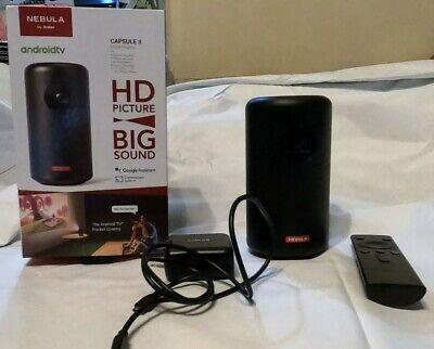ANKER Nebula Capsule II Smart Portable Projector 200 ANSI Pocket Cinema WiFi HD
