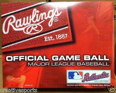 1 DOZEN RAWLINGS OFFICIAL LEATHER MAJOR LEAGUE BASEBALLS MLB - QTY 12 MANFRED