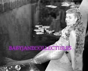 ANN BLYTH as MERMAID HOLLYWOOD SET CANDID photo #3