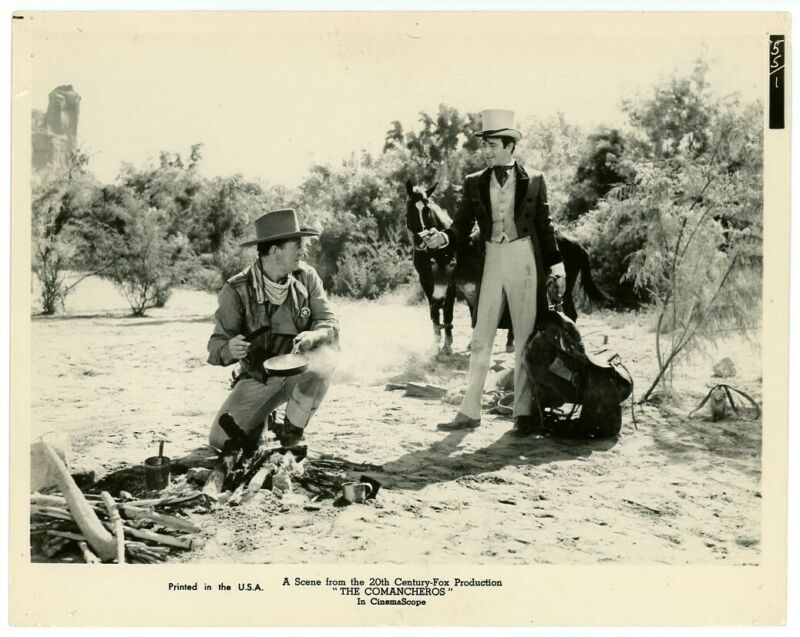 JOHN WAYNE, STUART WHITMAN original movie photo 1961 THE COMANCHEROS